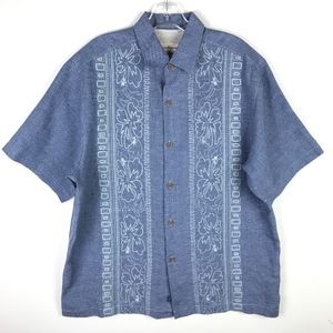 Tommy Bahama Linen Embroidered Button Down #549
